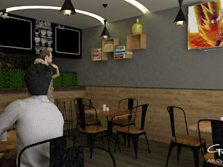 Cafeteria La bendición Comedores modernos de GT-R Arquitectos Moderno