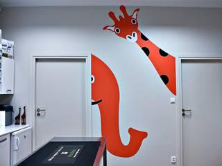 Projekt wnętrza przychodni weterynaryjnej od SZARA / studio Nowoczesny