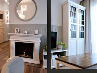 Mieszkanie w stylu angielskim Klasyczny salon od SZARA / studio Klasyczny