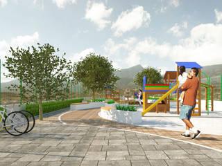 Parque publico Jardines modernos de RH-Arquitectos Moderno
