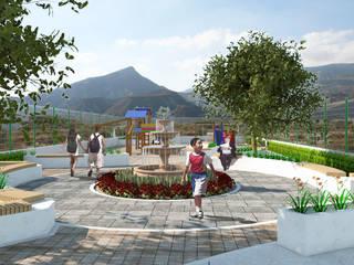 Garden by RH-Arquitectos, Modern