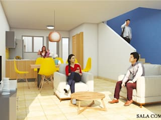 Vivienda de Interés Social Comedores modernos de RH-Arquitectos Moderno
