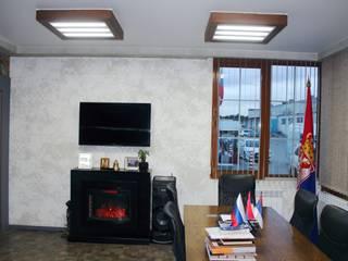 Кабинет руководителя и владельца мебельной фабрики: Офисные помещения в . Автор – Фактура - мастерская декора, Лофт