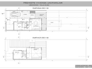 VIVIENDA UNIFAMILIAR EN VILLA ELISA: Casas unifamiliares de estilo  por DF ARQ