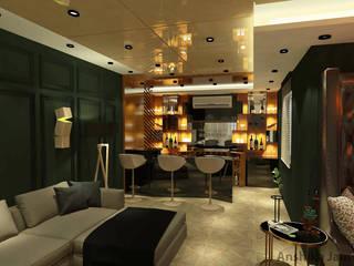 Salas multimedia de estilo moderno de Inaraa Designs Moderno