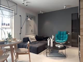 Salas / recibidores de estilo  por Elena Demkina Design, Minimalista