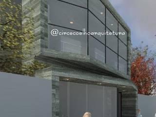 Obra residencial e comercial, arquitetura brutalista por Circe Coelho arquitetura Industrial