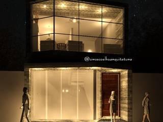 Obra residencial e comercial, arquitetura brutalista Casas industriais por Circe Coelho arquitetura Industrial