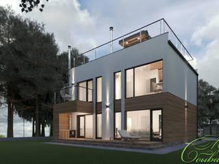 Maisons minimalistes par Компания архитекторов Латышевых 'Мечты сбываются' Minimaliste