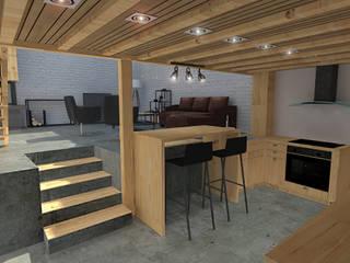 De la grange au loft Cuisine minimaliste par World Vibes Concept Minimaliste