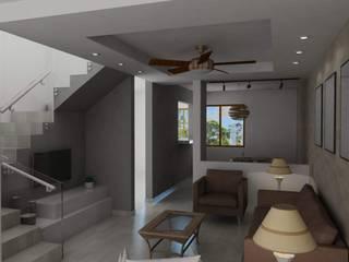 REMODELACIÓN DE INTERIORES: Salas de estilo  por V+C Arquitectura