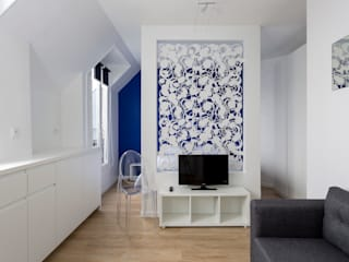 Fables de murs Living room Metal Blue