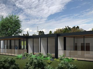 Casa I:  de estilo  por Taller Once Arquitectura