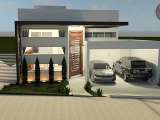 CASA M.B: Casas familiares  por Isa De La Volpe • Arquitetura • Interiores • Construção