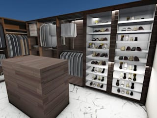 Casa habitación San Jerónimo Vestidores modernos de Punto D Moderno