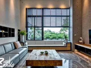 Minimalist living room by Zendo 深度空間設計 Minimalist