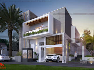 Top Ten Builders In Kerala Asian style houses by CreoHomes Pvt Ltd Asian