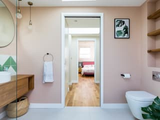 Brockley Extension and Conversion Urbanist Architecture Modern Bathroom Multicolored