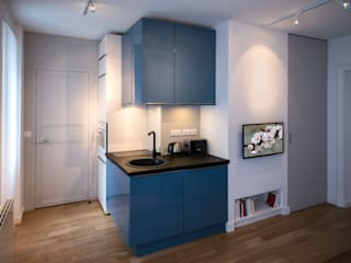 Fables de murs Built-in kitchens MDF Blue
