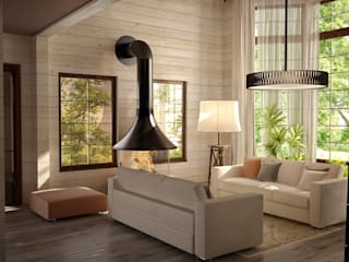 Irina Yakushina Rustic style living room Wood Beige