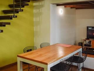 Reforma Casa EF Salones minimalistas de ERA - Estudio Rosarino de Arquitectura Minimalista