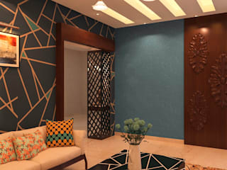 Living room In In Ghaziabad:   by RID INTERIORS
