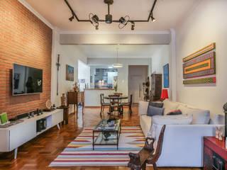 Erica Saraiva Design de Interiores Ruang Keluarga Gaya Rustic