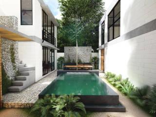 Infinity pool by Indigo Diseño y Arquitectura, Tropical