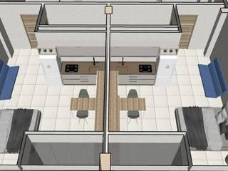 Obra Nueva de Departamentos en Playa del Carmen:  de estilo  por CRYV Proyectos y Construccion