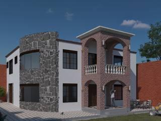 """PROYECTO Y CONSTRUCCIÓN DE CASA HABITACIÓN """"HUERTA"""" de ARQUITECTOS TAFOYA Rústico"""