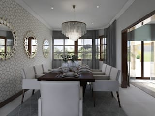 CKW Lifestyle : Classic Monaco Dining room CKW Lifestyle Associates PTY Ltd Dining roomChairs & benches Wood Beige