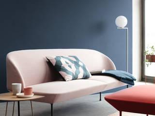SCHÖNER WOHNEN-FARBE 现代客厅設計點子、靈感 & 圖片 Blue