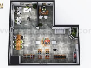 Open Concept modern Cloth showroom 3D Virtual Floor Plan Design by Architectural Visualisation Studio, Sydney – Australia Yantram Architectural Design Studio Modern