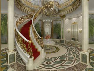 Al Rayyan Villa - Doha / Katar Klasik Koridor, Hol & Merdivenler Sia Moore Archıtecture Interıor Desıgn Klasik