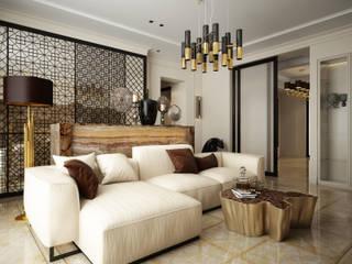Salas / recibidores de estilo  por Elena Demkina Design, Ecléctico