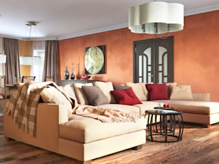 Irina Yakushina Classic style living room Orange