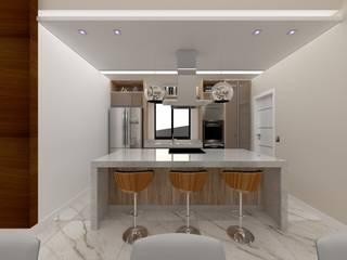 Casa E&M Danilo Rodrigues Arquitetura Armários e bancadas de cozinha