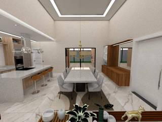 Casa E&M Danilo Rodrigues Arquitetura Salas de jantar modernas