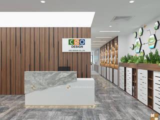 Thiết kế nội thất văn phòng CEO tầng 3 bởi Công ty CP nội thất Miền Bắc Hiện đại