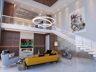Gayrettepe Loft - İstanbul / Türkiye Modern Oturma Odası Sia Moore Archıtecture Interıor Desıgn Modern