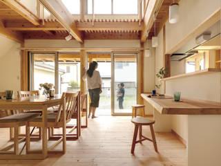 友沼の家 モダンデザインの ダイニング の 山下建築研究所 モダン