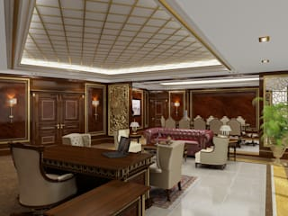 Executive Office - Doha / Qatar Sia Moore Archıtecture Interıor Desıgn 書房/辦公室 實木 Brown