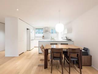 Salas de jantar modernas por 스페이스 블랑 Moderno