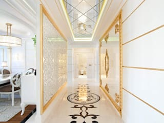 Bosphorus City Loft - Istanbul / Turkey Classic style corridor, hallway and stairs by Sia Moore Archıtecture Interıor Desıgn Classic
