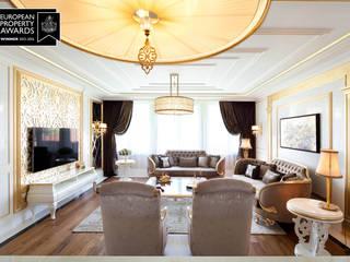Bosphorus City Loft - İstanbul / Türkiye Klasik Oturma Odası Sia Moore Archıtecture Interıor Desıgn Klasik