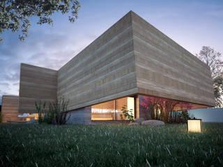 """Projeto """"Casa do Ribeiro"""" _ Ponte de Lima Casas rústicas por INQUIETUDE ARQUITETURA Rústico"""