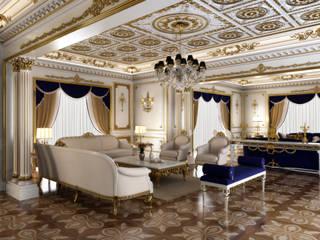 Özel Villa - Riyad / Suudi Arabistan Klasik Oturma Odası Sia Moore Archıtecture Interıor Desıgn Klasik