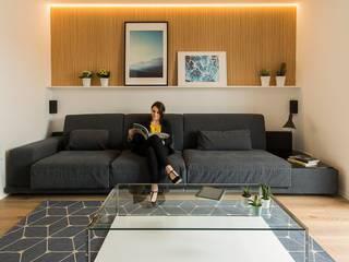 غرفة المعيشة تنفيذ Pablo Muñoz Payá Arquitectos