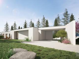 """Projeto """"Casa do Anjo"""" _ Palmela Casas modernas por INQUIETUDE ARQUITETURA Moderno"""