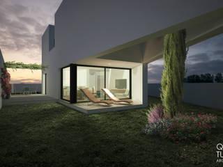 """Projeto """"Casa de Rana"""" _ Cascais Casas modernas por INQUIETUDE ARQUITETURA Moderno"""